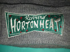 Reverend Horton Heat Logo Grey Knit Roll Vintage Beanie Cap Hat Psychobilly Rock