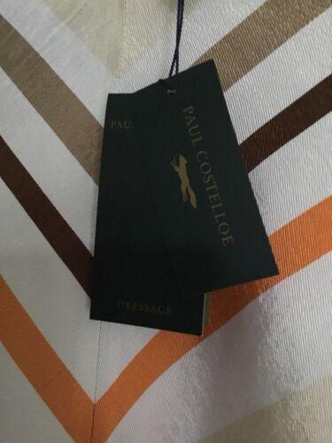 Beige Costelloe Bianco 12 Striped Paul Taglia Skirt Arancione Tag Dressage Bn Con gROBxX