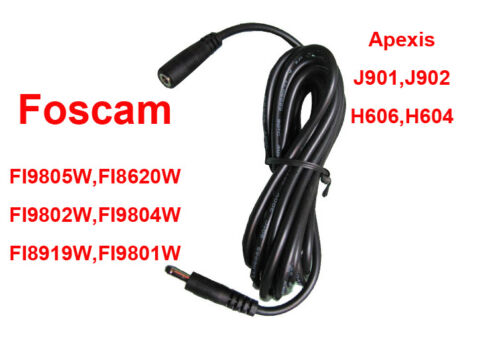 2 PCS 3M DC 5V//12V Power Extension Cable For FOSCAM Tenvis Vstarcam IP Cameras