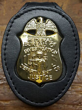 FBI Badge Cut-Out Small Belt Clip - (Badge Not Included)