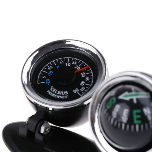 2 in 1 Guide Ball Car Compass Thermometer Car Ornaments Direction Dashboard MP