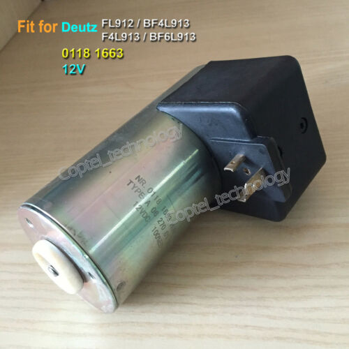 01181663 12V Fuel Shutoff Solenoid for Deutz Engine FL912 BF4L913 F4L913 BF6L913