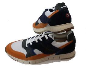 Caricamento dell immagine in corso SCARPE-SNEAKERS-AERONAUTICA-MILITARE -SC140CT-arancione-blu-shoes- e4ea88d2574