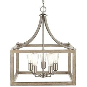 home decorators boswell quarter collection 5 light brushed nickel