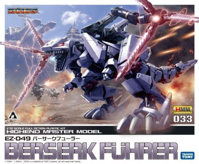 Kotobukiya Zoids Hmm 033 EZ-049 Berserk Fuhrer 1/72 Maqueta de Plástico en Kit