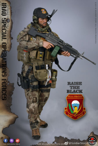 1//6 Soldier Story SS107 Iraq Special Operations Forces ISOF Saw Gunner In Stock