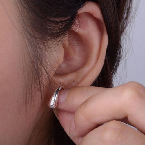 1xFashion Jewelry Tear Drop Hook 925 Sterling Silver Hoop Earrings Hot Sale Chic