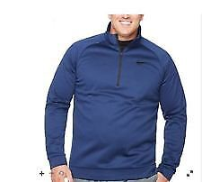 ae50f1795fd4 Nike Quarter-Zip Blue Jay   Black Thermal Pullover- Big and Tall ...