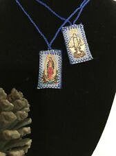 Our Lady of Guadalupe and Mary Handcrafted Scapular/Escapulario/Folk Art Med