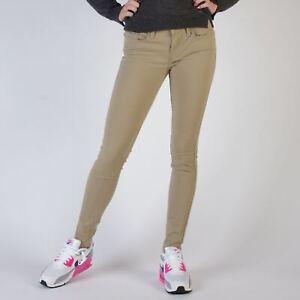 Levi-039-s-535-Super-Skinny-Harvest-Gold-Damen-Beige-Jeans-Groesse-34-US-W27-L30