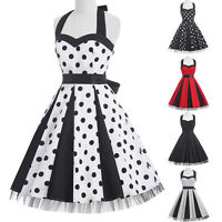Tüll Kleid Petticoat 50er Abendkleid Tanzkleid Karneval Polka Dot