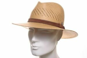 VINTIMILLA Panama Hut Strohhut Fashion Air Stroh Sommer Hat Traveller camel Neu