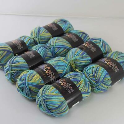 AIP Soft Baby Cotton Yarn New Hand dyed Wool Socks Scarf Knitting 1ball x50gr 01