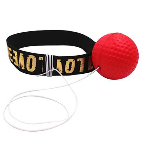 Boxing Training Fight Ball Reflex Speed Reaction Punch Combat Muscle Exercise J