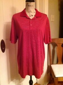 Mens-NIKE-GOLF-Size-M-Dri-Fit-Tour-Performance-Red-Polo-Shirt-Excellent