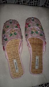 Gorgeous-DUNE-flat-slip-on-mule-type-sequinned-Sandals-Size-UK-5-EU-38