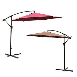 Image Is Loading 10 039 Ft Patio Umbrella Offset Hanging