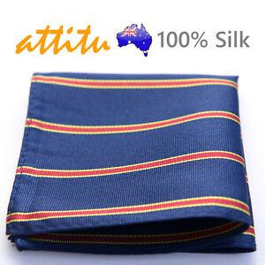 100-Silk-Men-Pocket-Square-Handkerchief-Hankies-Wedding-ATTITU-Castle-Series
