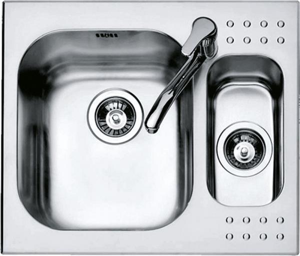 BARAZZA lavello 1 vasca e mezzo 1IS6060 da incasso 58