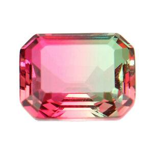 10x8MM-Watermelon-Unnatural-Tourmaline-Emerald-Cut-Loose-Gems