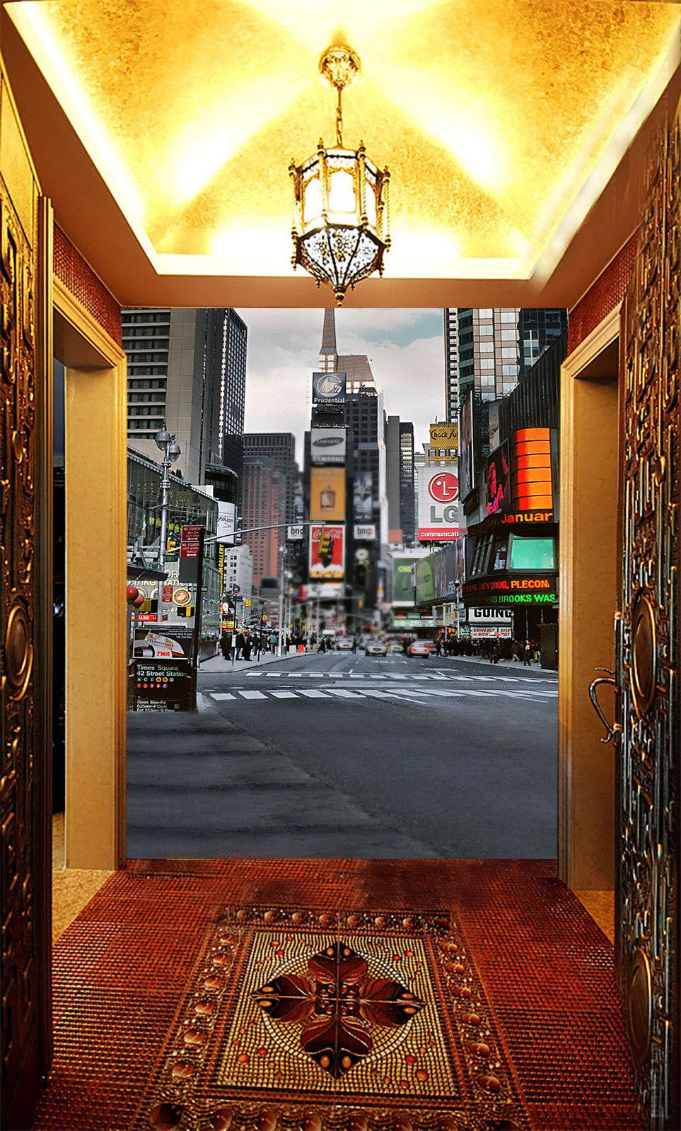 3D Street Road 77 Wallpaper Mural Paper Wall Print Wallpaper Murals UK Lemon