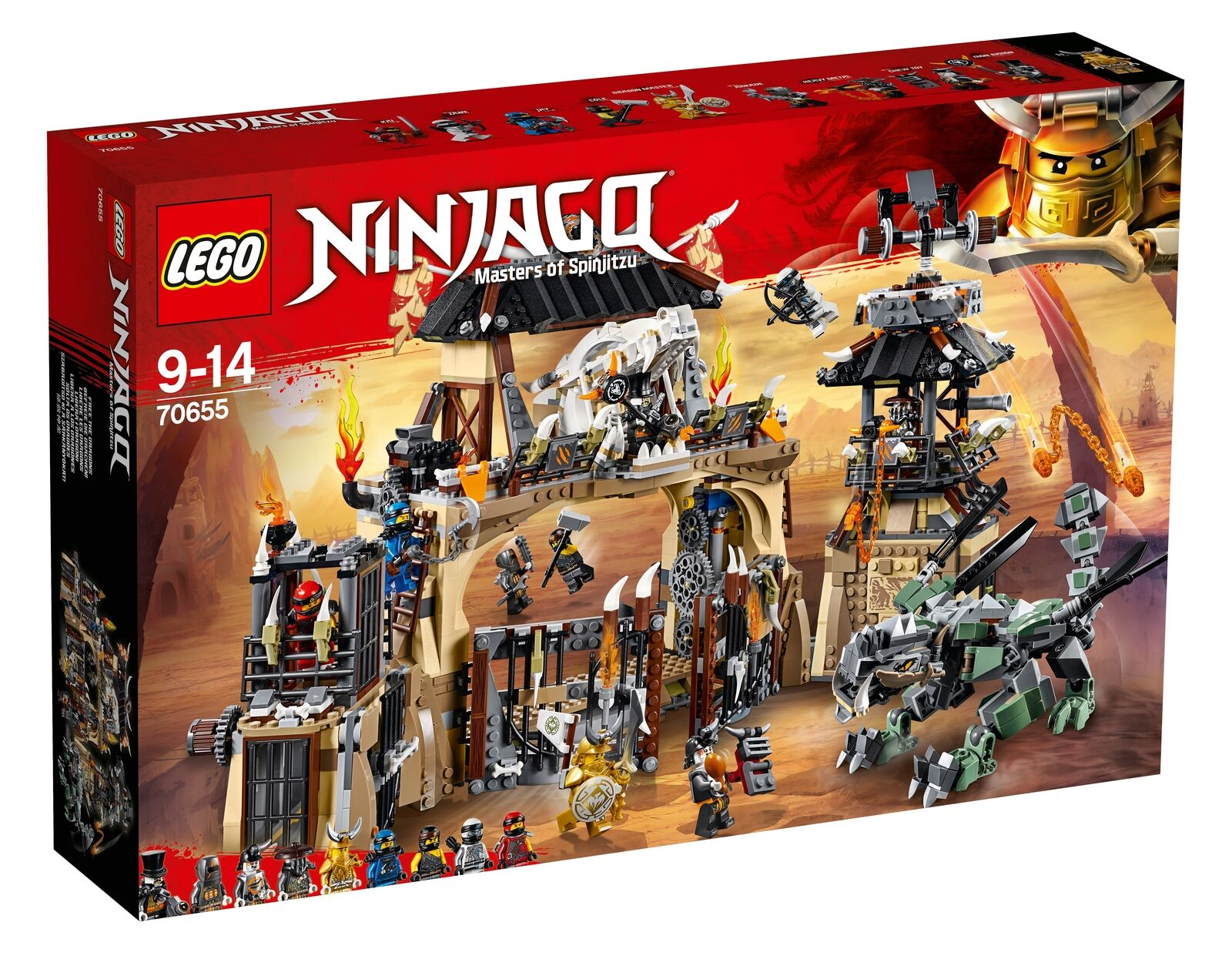 70655 LEGO Ninjago Dragon Pit 1660 Pieces Age 9+ New Release For 2018