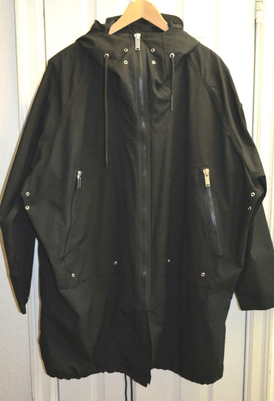 NEW KARL LAGERFELD Men WOOL LANED Jacket Zip Hooded Outerwear