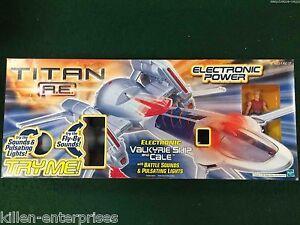 Titan A.e.valkyrie Navire Et Cale Figurine Hasbro 2000