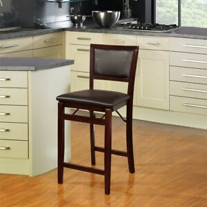 Pleasant Details About Folding Bar Stools 24 Inch Padded Counter Kitchen Dining Chair Seat 250 Lb Cap Bralicious Painted Fabric Chair Ideas Braliciousco