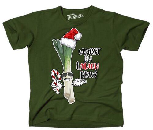 T-shirt poireau-tu étais Poireau Sage Noël régime alimentaire plus drôle sort siviwonder