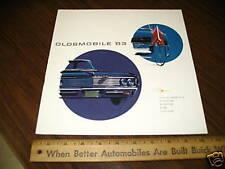 1963 OLDSMOBILE Car Sales Brochure Dutch Holland
