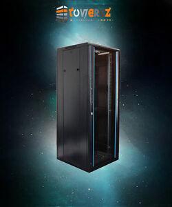 FLAT-PACK-18U-1mt-H-Data-Wall-Cabinet-450mm-Patch-Panel-PDU-LAN-Server-Comms