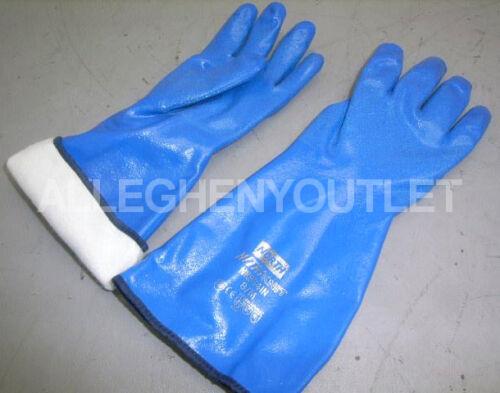 "Premium INSULATED Nitrile 13/"" Chemical ABRATION Resistant Gloves REUSABLE MEDIUM"