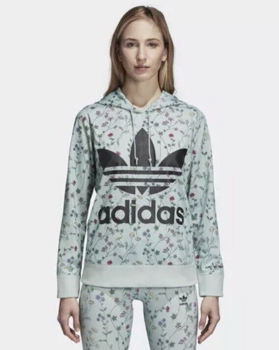 Adidas DN9094 Women originals Spring Hoodie LS shirts green size Small or Large