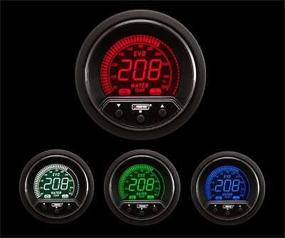 Water Temperature Gauge Electrical Red//blue EVO Series 52mm 2 1//16