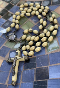 VINTAGE-Christian-CATHOLIC-ROSARY-made-in-ITALY-42-inches