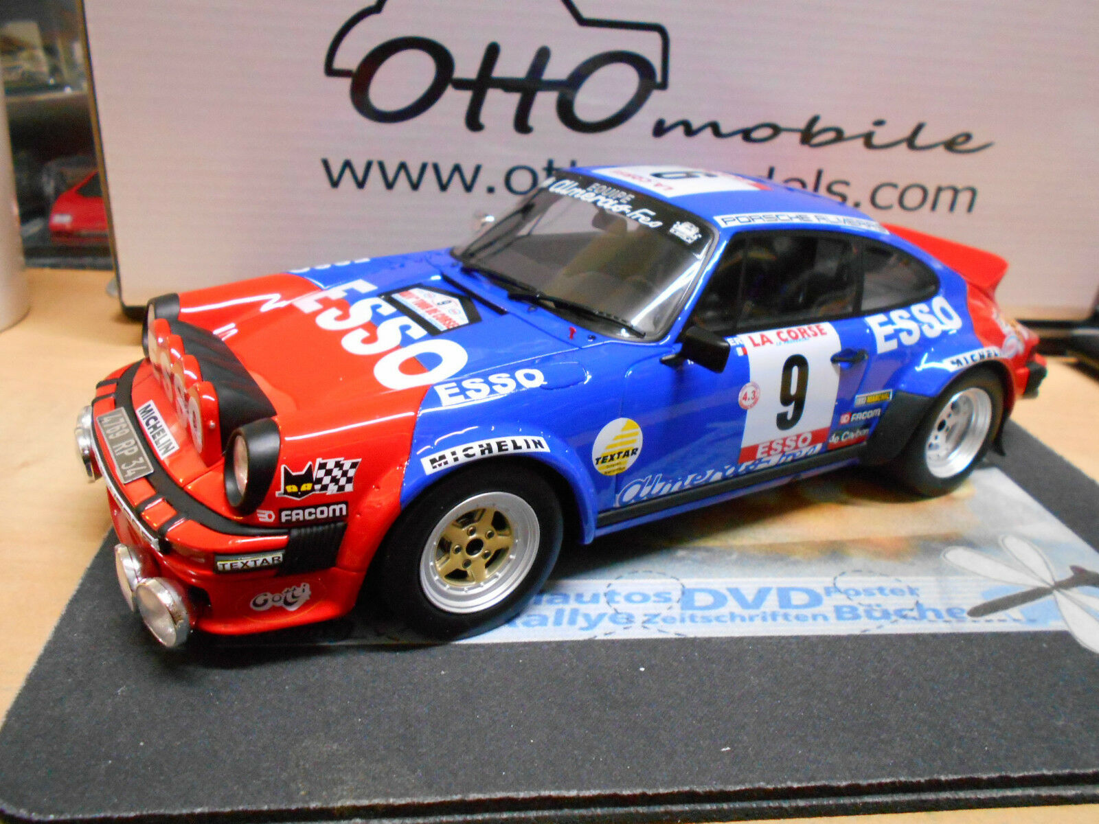 PORSCHE 911 Carrera SC Tour de Corse Rallye 1980 Esso Therier RAR OTTO 1 18  | New Products
