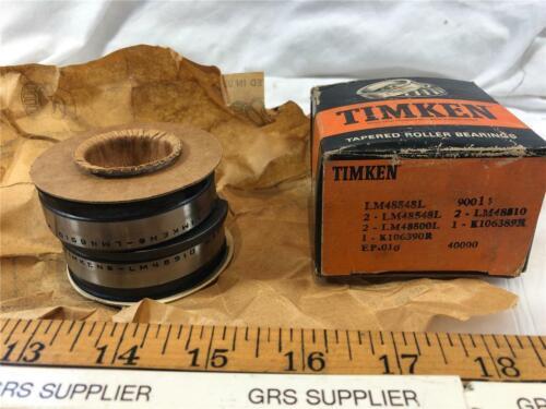 2-LM48500L,1-K106390R,2-LM48510,1-K106389R NEW 2-LM48548L TIMKEN BEARING SET