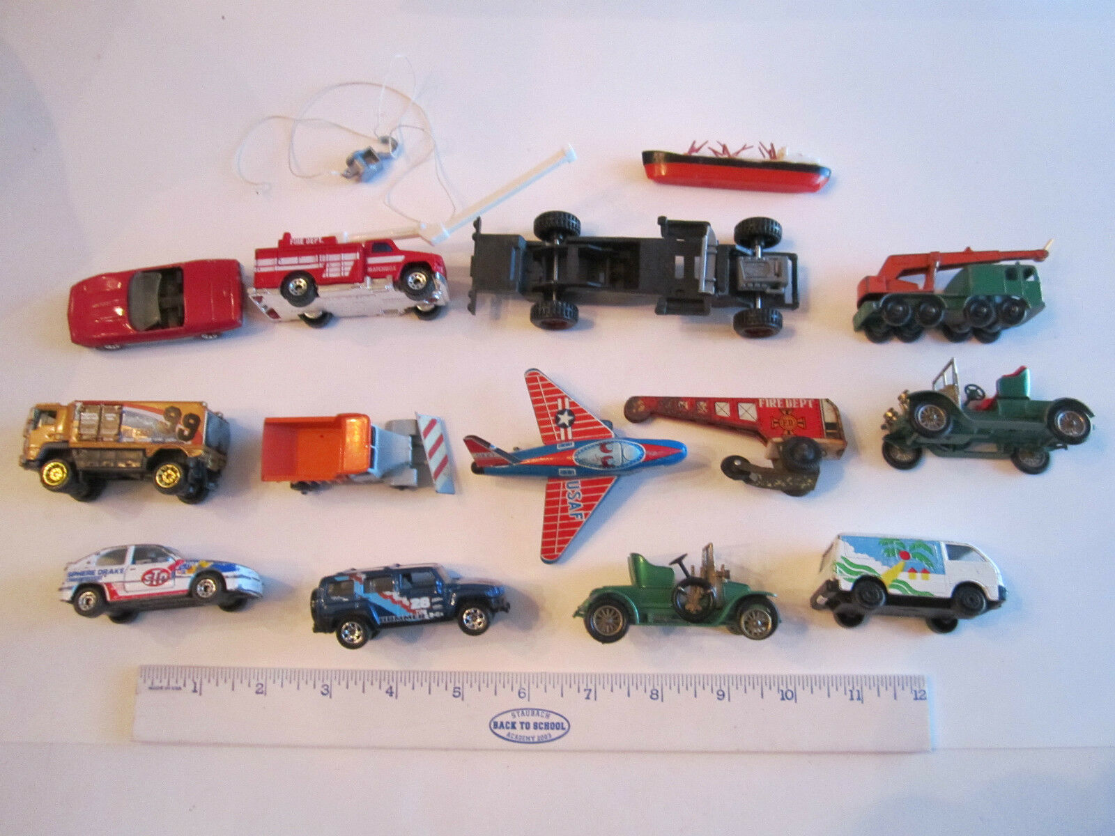 COLLECTION OF VTG. DIECAST CARS - METAL & PLASTIC - UNSEARCHED - LOT 2 - TUB RRR