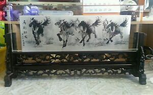 China-Inner-Painting-of-Eight-Horses-by-famous-Painter-Artist-Chang-Feng-1971