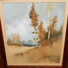 """JEANETT """"HIGH COUNTRY"""" SNOW MOUNTAIN LANDSCAPE ORIGINAL OIL ON CANVAS PAINTING"""