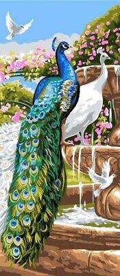 Peacock Garden Tapestry Canvas