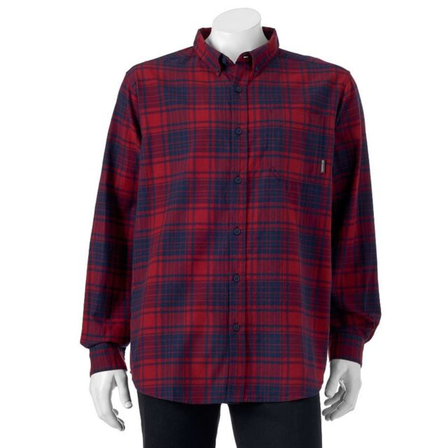 c56c373dbe3 Columbia Sportswear Big & Tall Mens Size XLT Red Plaid Button-Down Shirt  NEW $55