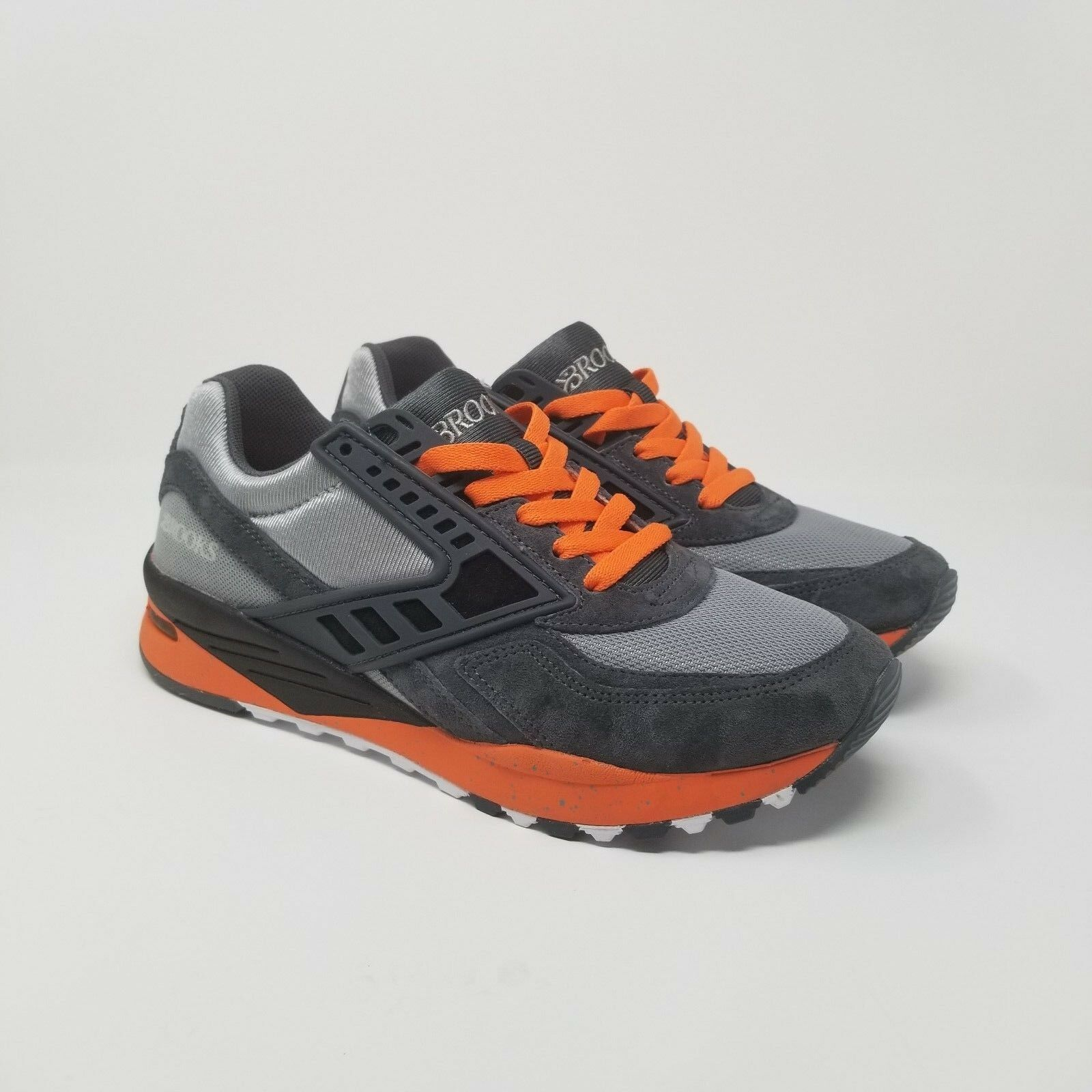 Brooks Heritage Regent  Uomo Running Orange Schuhes Größe 7.5 Grau Orange Running NEW 7a0b6d