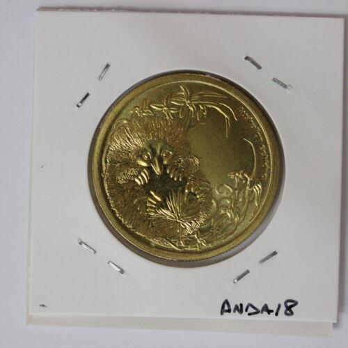 ANDA18E3 Australian Australia 2013 Bush Babies Echidna $1 One Dollar UNC