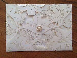 generic sample wedding invitations wallet envelope vintage style