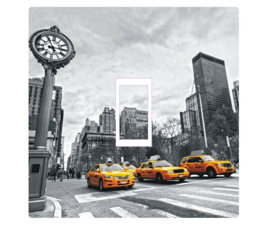 New york yellow cab taxi interrupteur de lumière housse autocollant décalque hd imprimé coloré