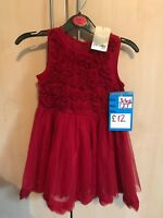 Girls Next Red Dress 3-4 years Brand new with tags