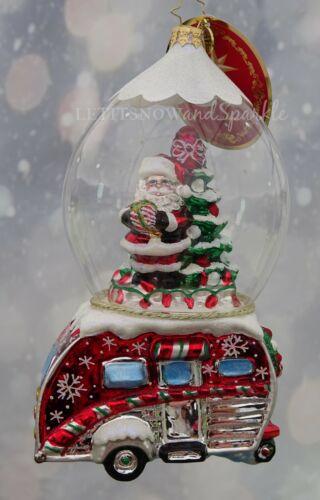 Christopher Radko *NEW* One Happy Camper Santa Christmas Ornament #1019824