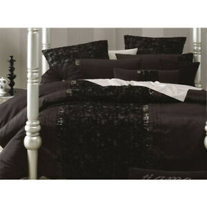 Linen-House-Glamour-Dita-Black-Texture-Satin-Double-Queen-King-Quilt-Cover-Set